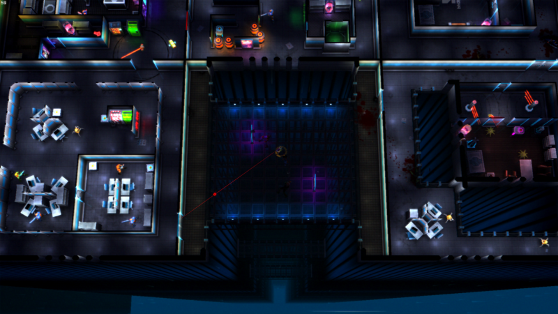 Procedurally Generated Office Environments for a Top-Down Shooter